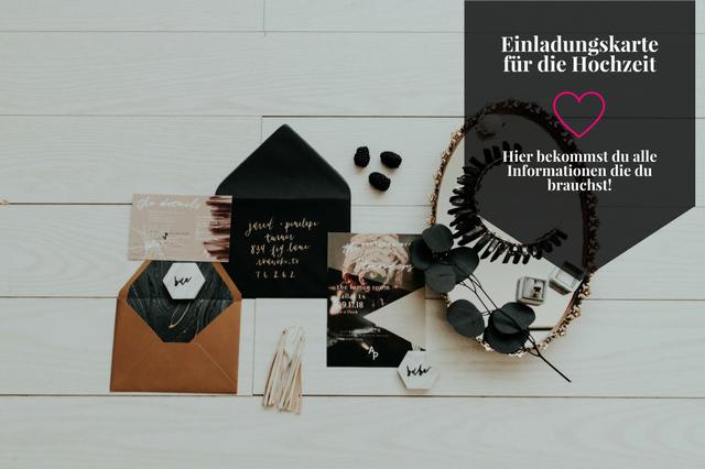 Einladungskarten für die Hochzeit erstellen? – So geht ´s!