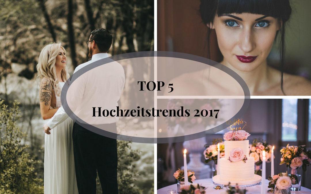 Top 5 Hochzeitstrends 2017